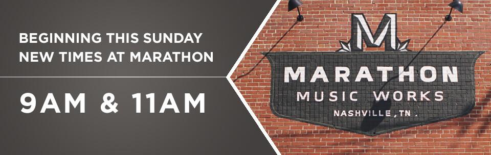 New Schedule at Marathon